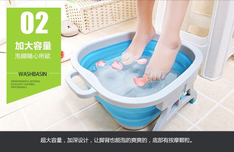 dobrável pedicure massagem imersão banho de pé