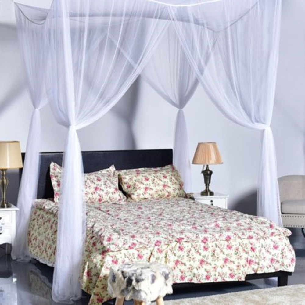White Quarto/ one Door Canopy Mosquito Net Fabric Mesh  Insect Shelterd girls Room Princess Bed Decor Tent Protection Children