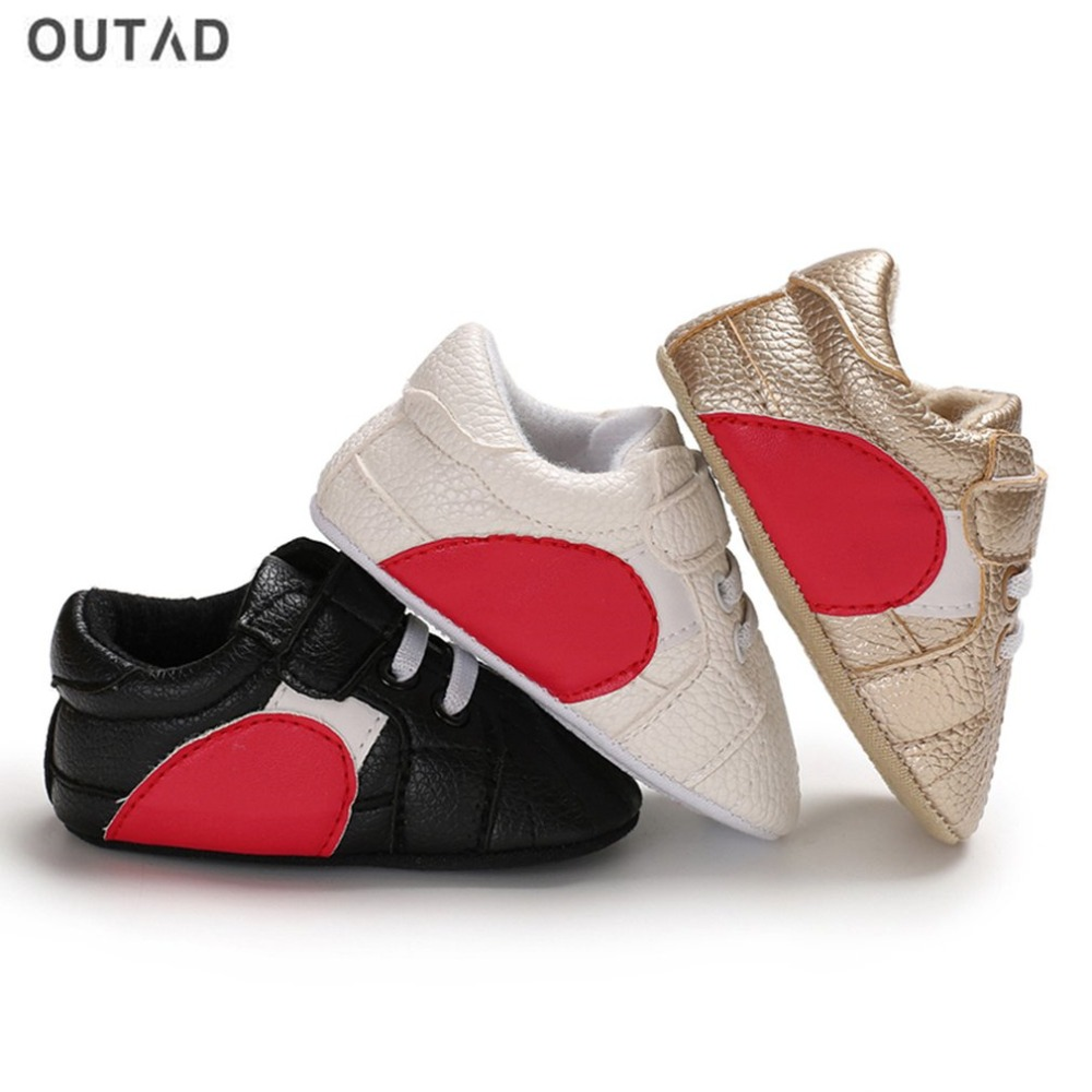 OUTAD printemps automne bébé chaussures anti-dérapant semelles souples premier marcheur chaussures Patchwork Prewalker bébé sans lacet à lacets chaussures pour bébé nouveau