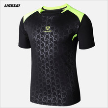 LS Brands men Tennis shirt Outdoor sports O-neck Quick Dry Breathable Running badminton men's Short-sleeve t-shirt tops tees