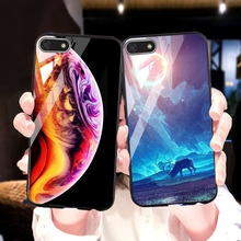 Ojeleye For Huawei Honor 7A Case Russian Silicon Tempered Glass Cover For Huawei Y5 Prime 2018 DUA-L22 Anti-knock Cover