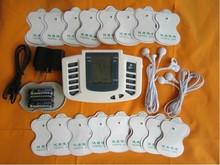 JR309新しいロシア語または英語ボタン電気刺激装置フルボディリラックス筋肉セラピーマッサージ、パルス十鍼+ 16パッド