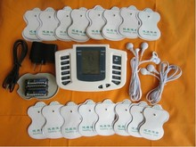 Jr309 새로운 러시아어 또는 영어 버튼 전기 자극기 전신 긴장 근육 치료 마사지, 펄스 십 침술 + 16 패드