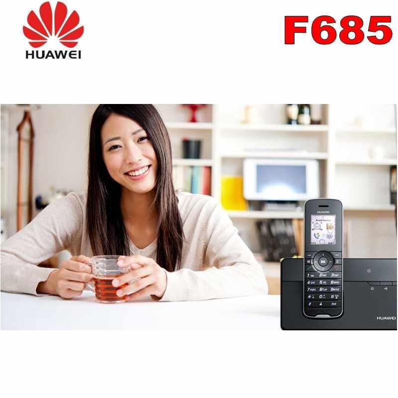 500PCS/Lot Cordless Phone & Handsets For Huawei F685 DECT Desktop Home  Phone W/ Sim Card Slot