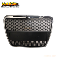 For 05 10 Audi A6 C6 RS Chrome Front Mesh Hood Grille Grill USA Domestic Free Shipping Hot Selling