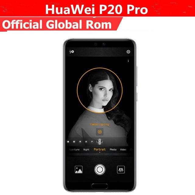 Version internationale HuaWei P20 Pro CLT-L29 téléphone portable Kirin 970 Android 8.1 6.1