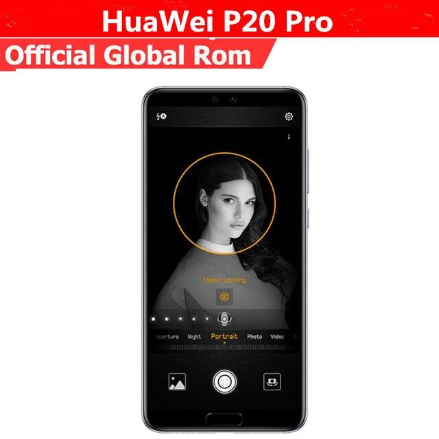 """Internationale Versie Huawei P20 Pro CLT-L29 Mobiele Telefoon Kirin 970 Android 8.1 6.1 """"2440X1080 6Gb Ram 128Gb Rom Nfc 40.0MP IP67"""
