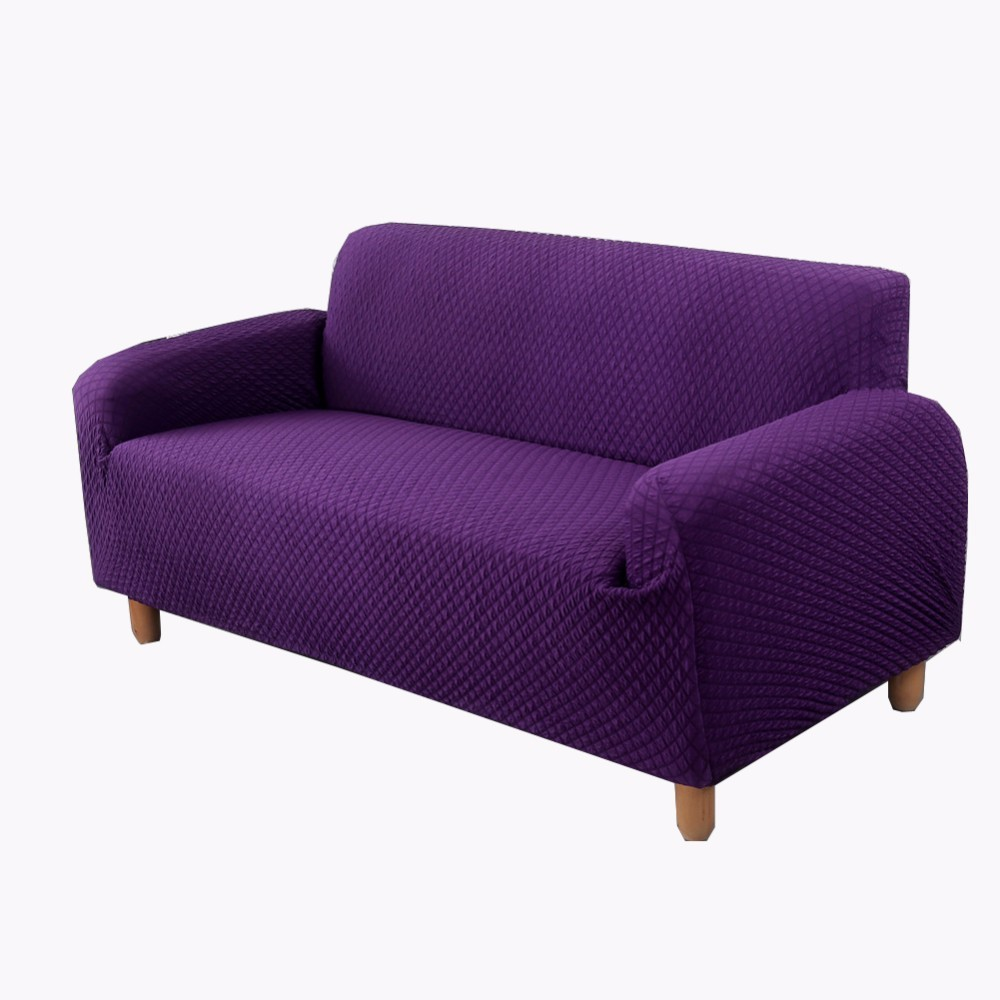 New Slipcover Stretch Sofa Cover Sofa With Loveseat Chair: Thicken Knitting Elastic Stretch Fabric Slipcover For