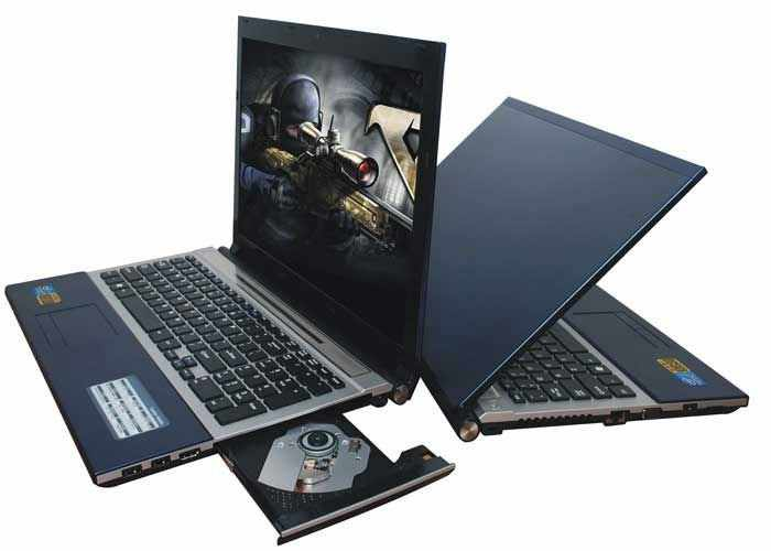 8G RAM  120G SSD  1000GB HDD 15.6inch 1920*1080P Intel Core i7 Gaming Laptop Windows 7/10 Notebook with DVD-RW For Office Home