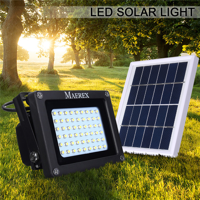 Waterproof Solar Light Sensor IP65 54 Leds Flood Light Solar Panel LED Floodlight Outdoo ...