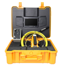 "40M DVR sewer pipe inspection video camera 7 ""90 degree 23mm long head waterproof endoscope camera"