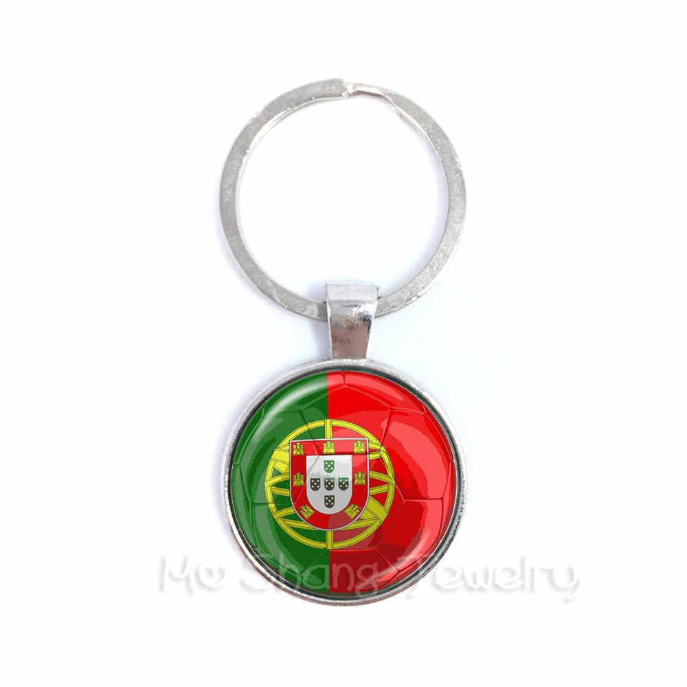 O Senegal, A Sérvia, a Suíça, a Suécia Japão Vidro Dome Pingente Chaveiros Lembranças Do Futebol Para COPA 2018 De Futebol Chaveiro