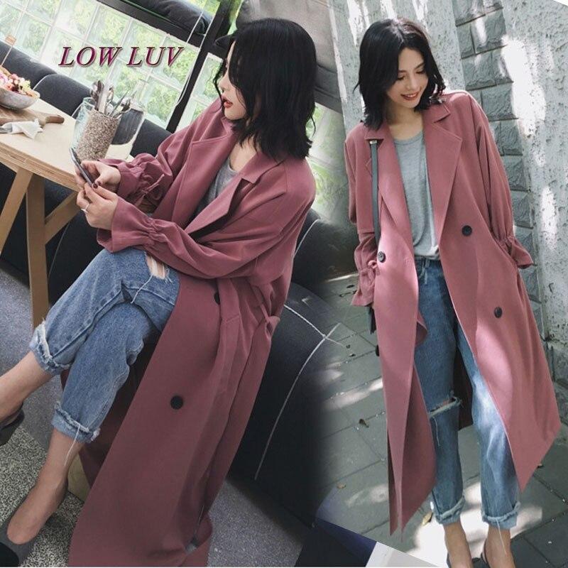 women's spring autumn plus long suit collar trench coat X- long casual oversize plus size adjustable waist overcoat for women