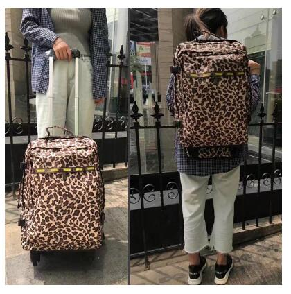 wheeled suitcase women travel trolley backpack luggage bags travel Backpack bags Rolling luggage suitcase travel bag on wheels