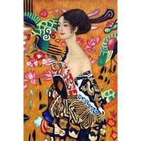 Figure oil canvas painting dance Woman with a fan Gustav Klimt wall art modern home decor