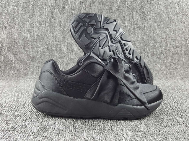 f9f90bea2de Puma shoes 698 bow Rihanna X Puma Fenty Mariya Hana bow shoes bow strap shoes  black