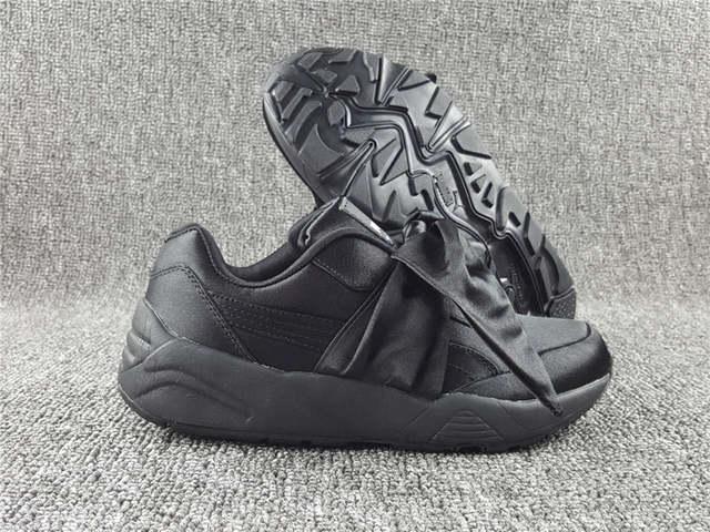 pretty nice 25162 5e9ff Puma shoes 698 bow Rihanna X Puma Fenty Mariya Hana bow shoes bow strap  shoes black 36-39