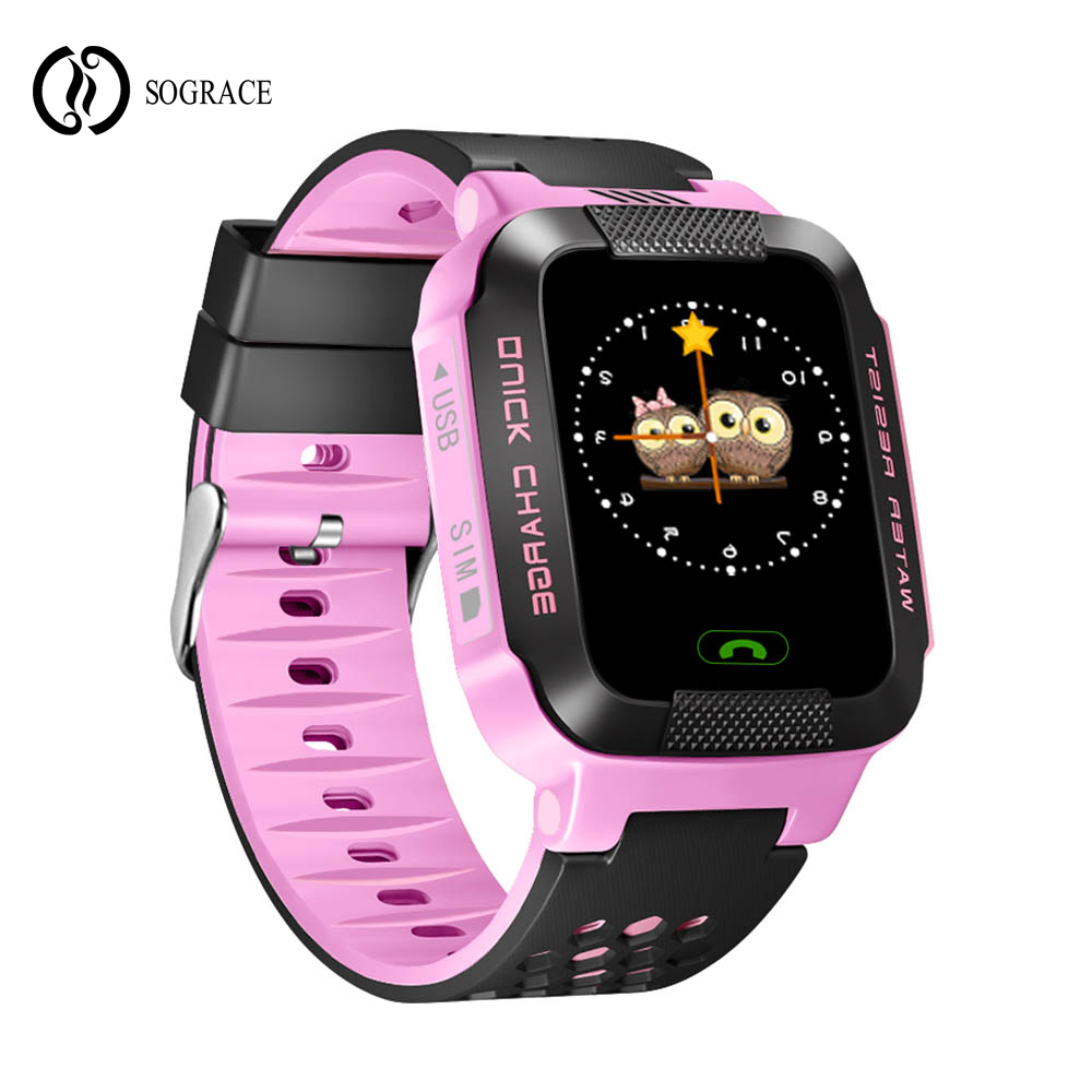 Sograce Smart Watches Kids Gift Smartwatch SOS Gps for child Phone Call Relogio 2G GSM SIM Card Boys Girls Digital Phone watch