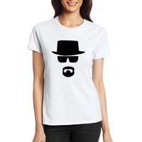 100 Cotton Women T Shirts Fashion Hat Cool Man Design Short Sleeve Casual Tops Simple Black