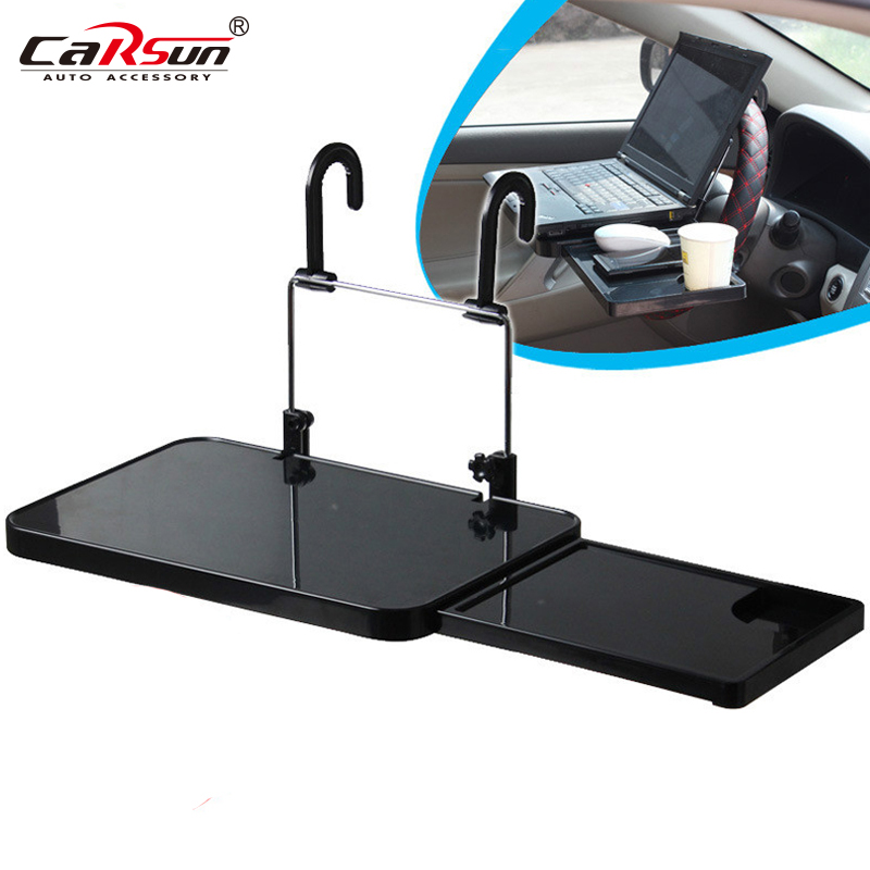 Foldable Car Laptop Stand Foldable Car Seat Steering Wheel Laptop Notebook Tray Table Food drink Holder