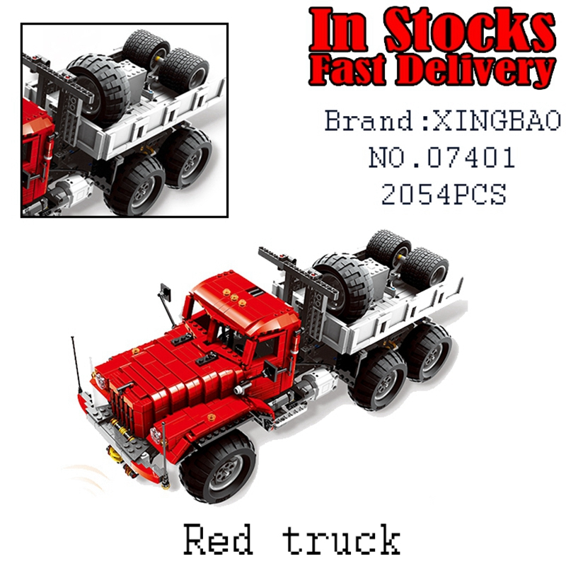 Xingbao 07401 2054Pcs MOC Technic Series The Big Rigs T14 Set Building Blocks Bricks Children Educational DIY Toys Model Gift lepin 16050 the old finishing store set moc series 21310 building blocks bricks educational children diy toys christmas gift