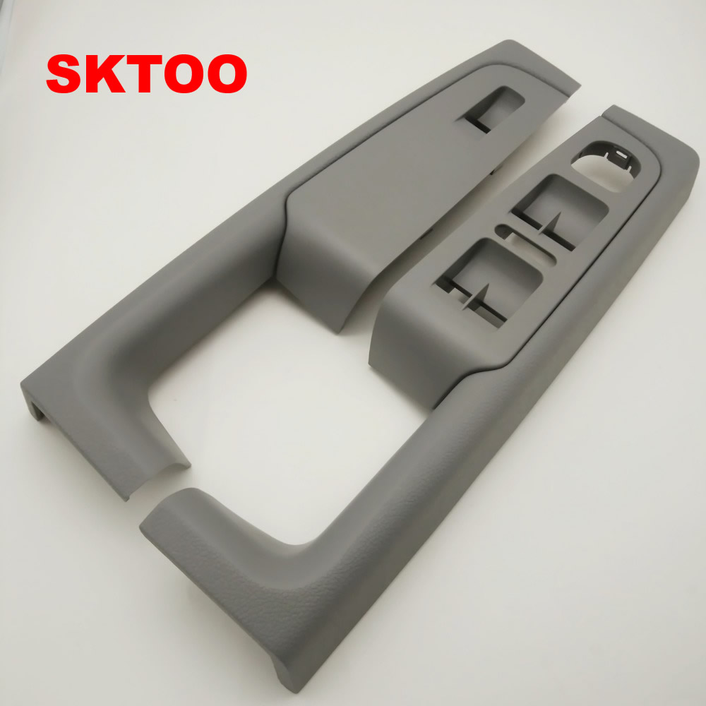 SKTOO for skoda superb inner door armrest box handle box lifter switch box handle