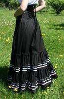 2014 Real Top Fasion None Solid Fashion Cotton Knee Length Ball Gown Shipping Long Victorian Skirts