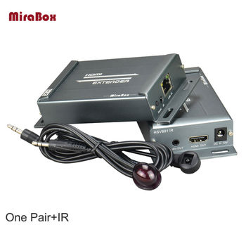 MiraBox HDMI Extender Infrared Transmitter/ Receiver WIth IR-Remote Support HD1080P 3.5mm Audio Jack 150m Cat5e/6 UTP Cable rj45