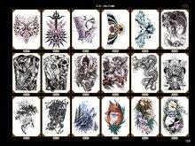 водонепроницаемый большой размер волка татуировка для мужчин лев тигр дизайн рука ноги плеча стикер воды передачи поддельные татуировки наклейки для взрослых