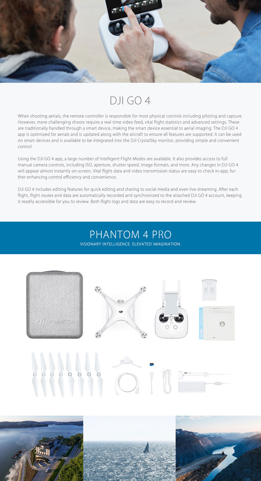 DJI Phantom 4 Pro & Phantom 4 Pro+ Drone with 4K HD Camera 1 inch 20MP CMOS 5 Direction Obstacle Sensing Quadcopte VS Obsidian