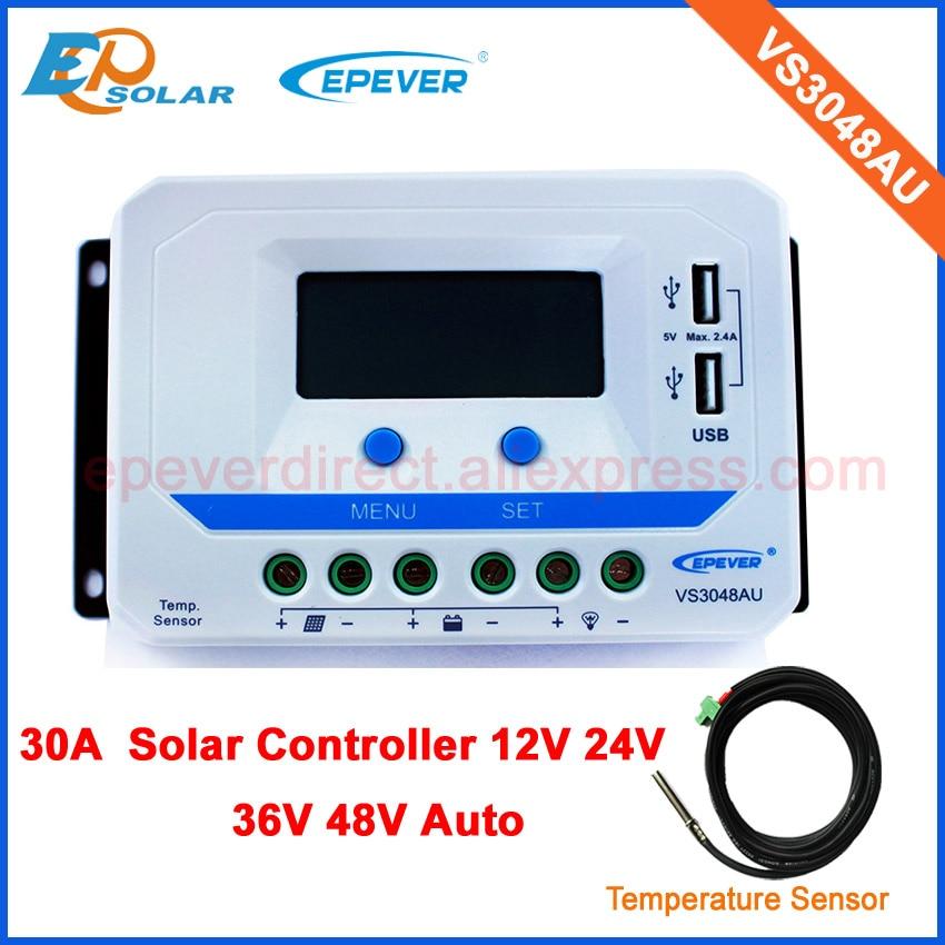 VS3048AU with temperature sensor and lcd display 30A 30amp solar portable regulators 12v/24v/36v/48v automatic workVS3048AU with temperature sensor and lcd display 30A 30amp solar portable regulators 12v/24v/36v/48v automatic work
