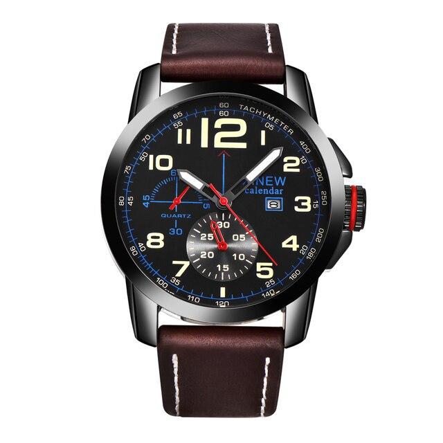 ab918e11710 Mens por atacado Barato Relógios Homens Data Pulseira de Couro Quartz  Relógios De Pulso Homem Relógio