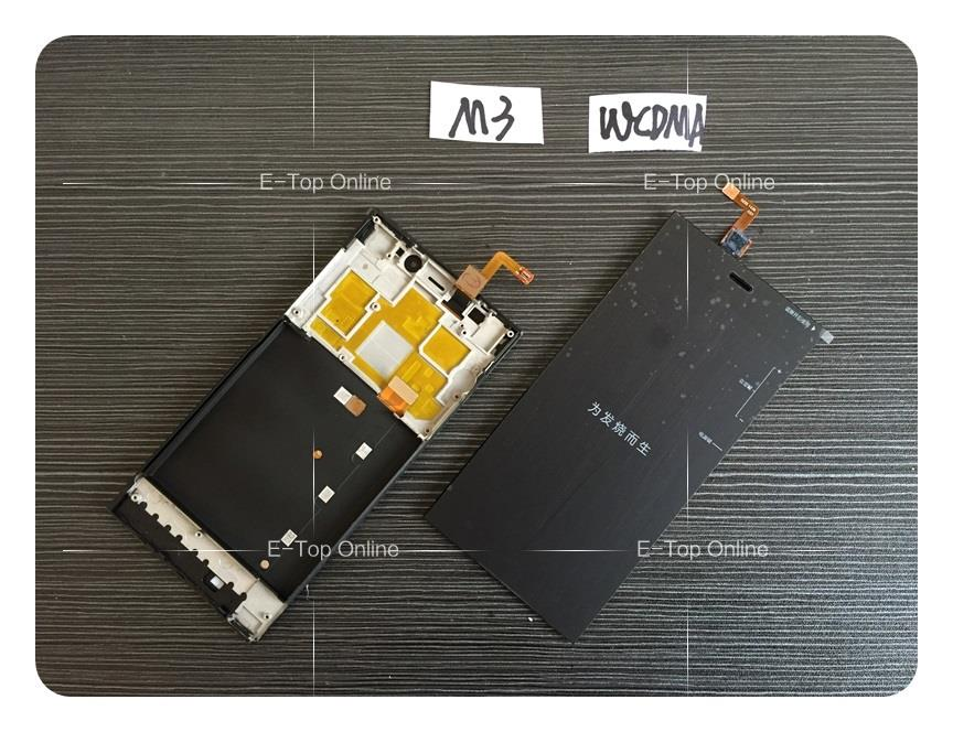 LCD Display + Digitizer Touch Screen Glass +frame Complete Assembly For Xiaomi xiao mi m3 mi3 3 WCDMA