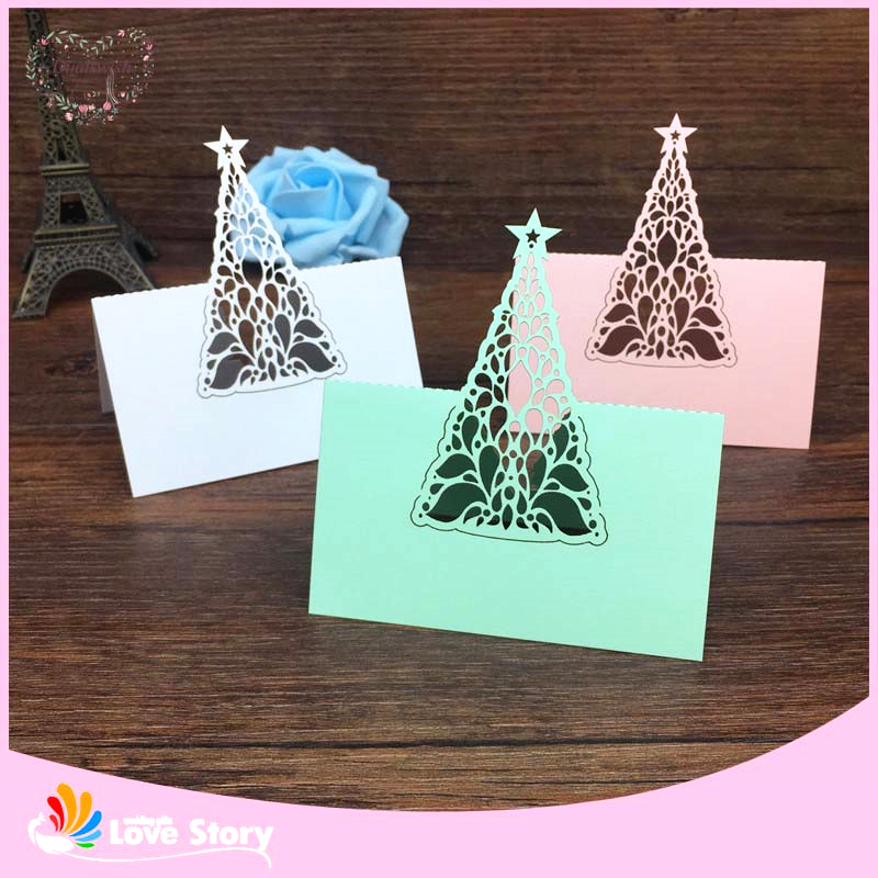 BHL 40pcs Birthday Christmas Tree Laser Cut Baby Shower Party ...