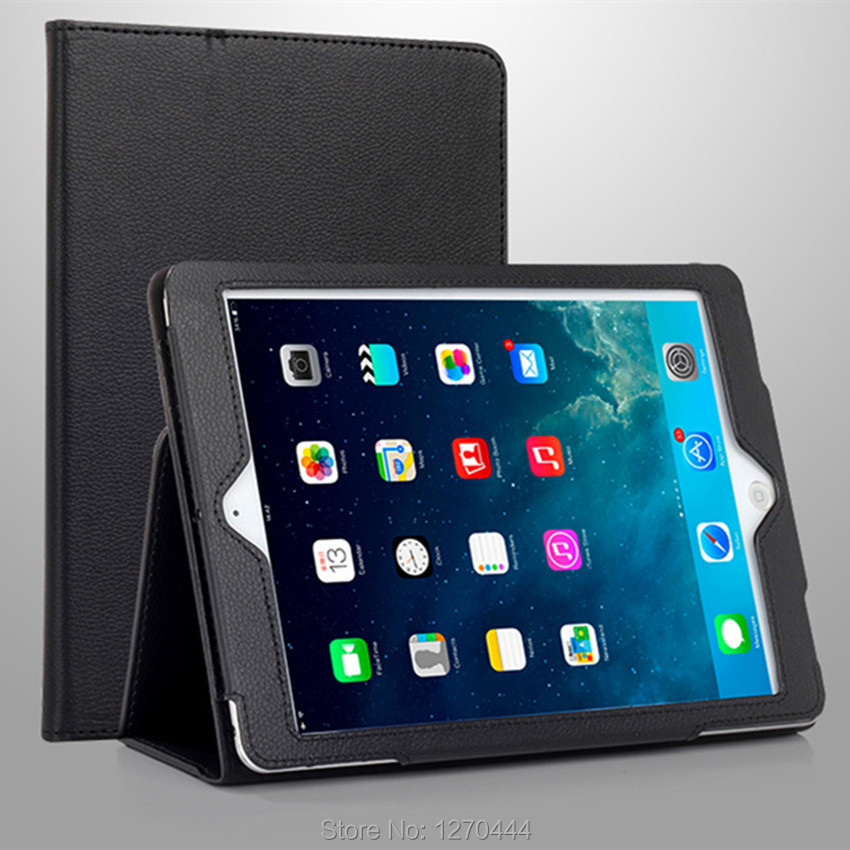 Case For Apple iPad Pro 10.5, New Flip Stand Fold PU Leather Protective Cases Lychee Pattern Cover for ipad pro mini 10.5'' 2017 lychee pattern flip open protective pu leather case for ipad mini black
