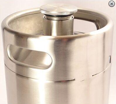 Mini keg Growler stainless wine pot New Stainless Steel Beer Growlers Personal Home Brewery Kit