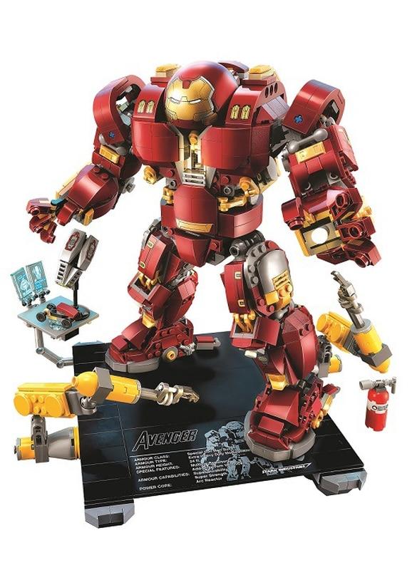 10833 blocs de construction 1372 pièces compatibles avec les legoings Marvel briques Hulkbuster: Ultron édition figurines jouets pour enfants