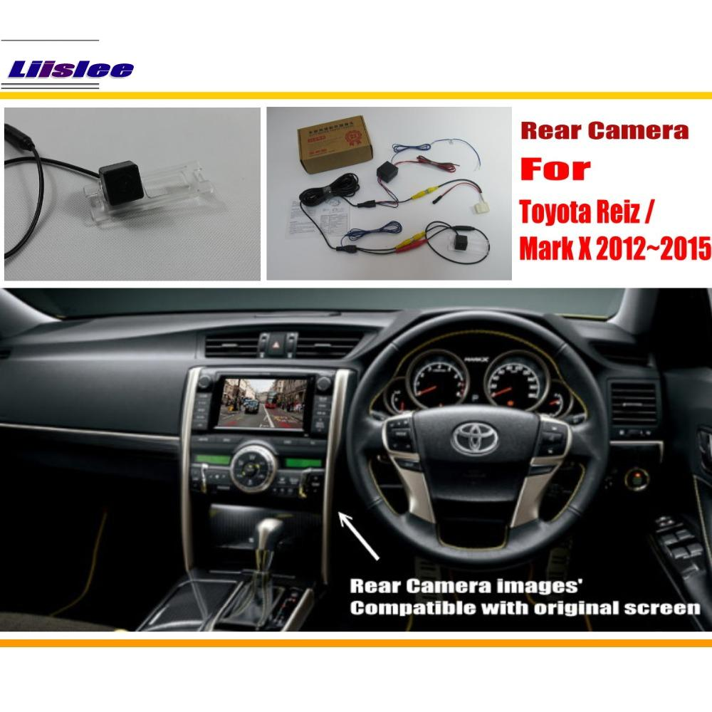 Liislee For Toyota Reiz Mark X Markx 20122015 Rca Original Jaguar Wiring Diagram Screen Compatible Rear View Camera Back Reverse Sets In Vehicle From