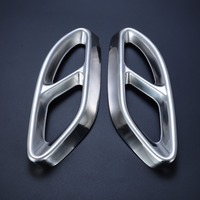 1 Pair Car Styling Stainless Steel Rear Cylinder Exhaust Pipe Tail Cover Trim For Mercedes Benz
