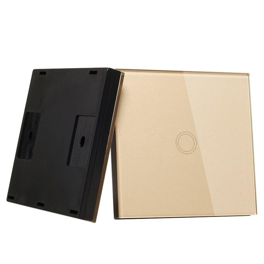 Vhome forma oro 1 gang 1 way interruttore casa intelligente telecomando senza fili RF 433 MHZ telecomando intelligente trasmettitore touch interruttore