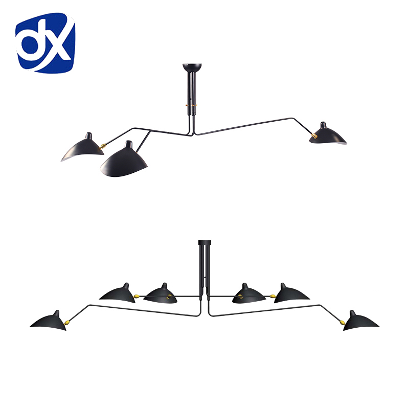 Nordic Ceiling Lamp 3 Arm 6 Arm Serge Mouille Ceiling Lights Duckbill Replica Rotating Dining Room Lighting Lamps White/Black литой диск replica legeartis concept b505 8x18 5x112 d66 6 et30 mbps