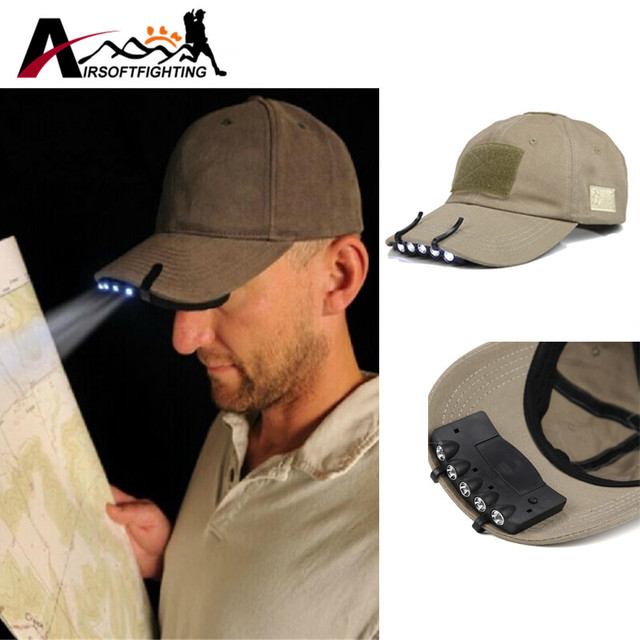 a7a8a2278b6 2pcs Bright 5 LED Hat Light Under the Brim Hunting Fishing Hands-free  Headlamp Light with Two Lighting Modes First aid kits