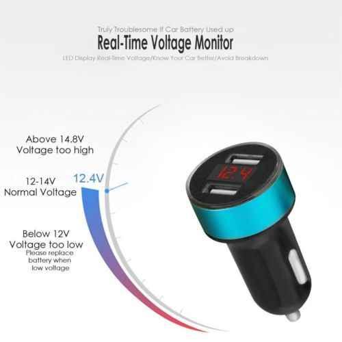5V3. 1A المزدوج منفذ USB للسيارة شاحن سريعة محول للشحن LED ل فون سامسونج LG