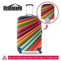 Colorful rainbow dispalang 3d impressão acessórios de viagem para 18-30 polegada de mala de viagem à prova d' água elástica bagage protector covers