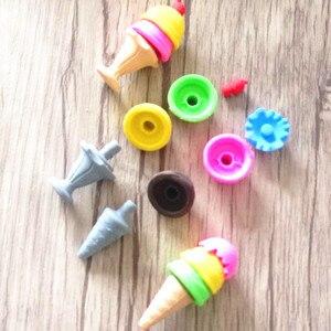 Image 3 - 48 adet/grup sevimli dondurma 3D kauçuk silgi çocuklar için güzel yaratıcı kırtasiye hediye ürün çocuk ofis okul malzemeleri