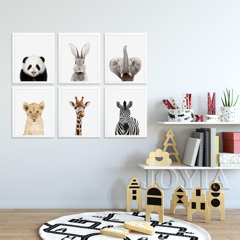 Baby Animals Canvas Art Prints Posters Cute Panda Rabbit
