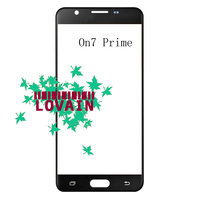 LOVAIN 10PCS Black White Gold For Samsung Galaxy On7 Prime Front Glass Lens Touch Screen Outer