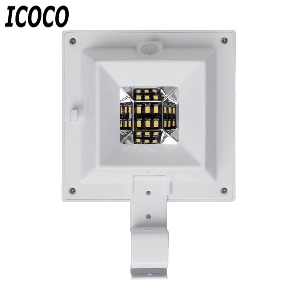 Waterproof 6 LED Solar Light Security Roof Gutter Lamp Garden Yard Outdoor Sensor Wall Lamp Emergency Lighting White/Warm white