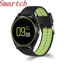 Smartch Bluetooth Smart Watch V9 with Camera Smartwatch Pedometer Health Sport MP3 Clock Hours Men Women Smartwatch For And