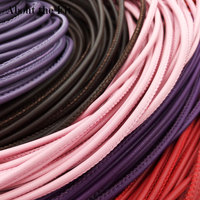 3mm 100M Stitched Lamb Leather Cord With Cotton Core Sutural Leather Ropes DIY Beads Lacing For Bracelet Necklace Jewelry Making